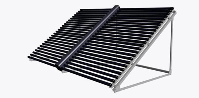 Solar Collector with Connecting Pipe (Horizontal)
